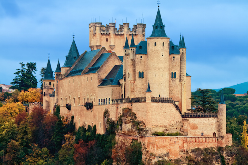 Alcazar Castle in Segovia