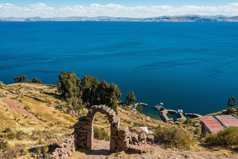 Titicaca Lake from Taquile Island