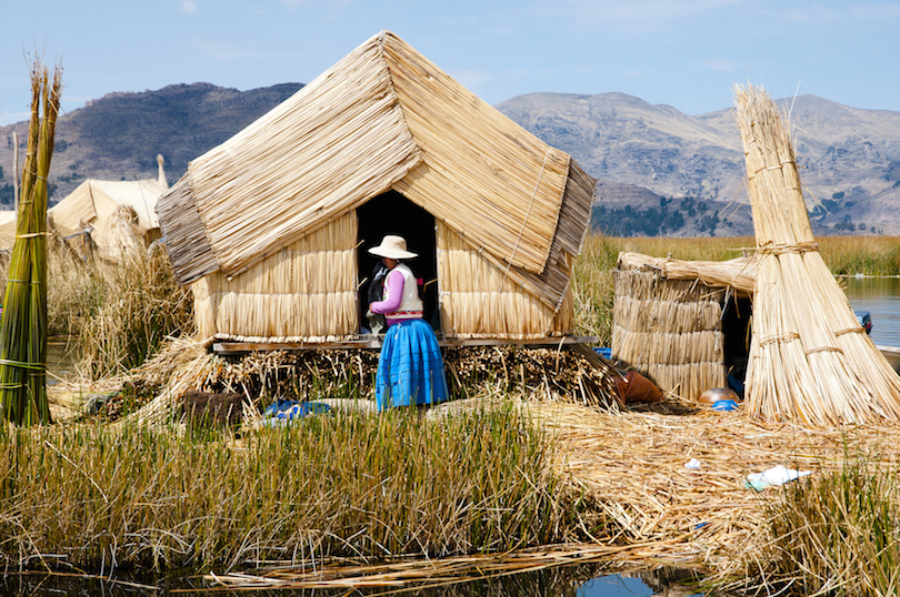 Traditional Woman in Uros Islands - Lake Titicaca