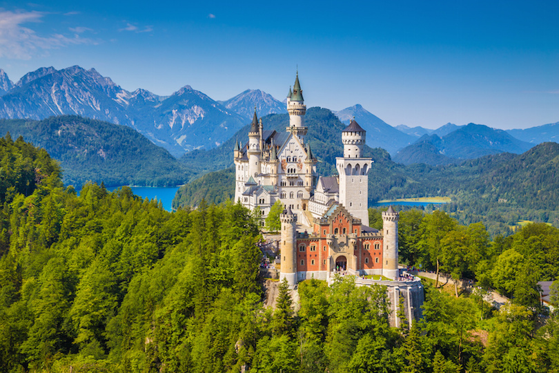 Famous Neuschwanstein Castle, Bavaria, Germany