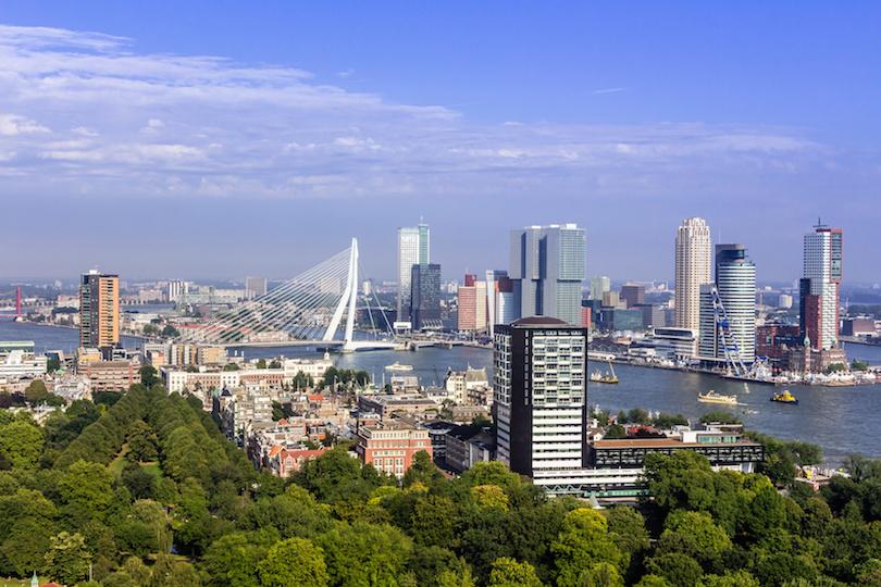 从Euromast的鹿特丹天际线