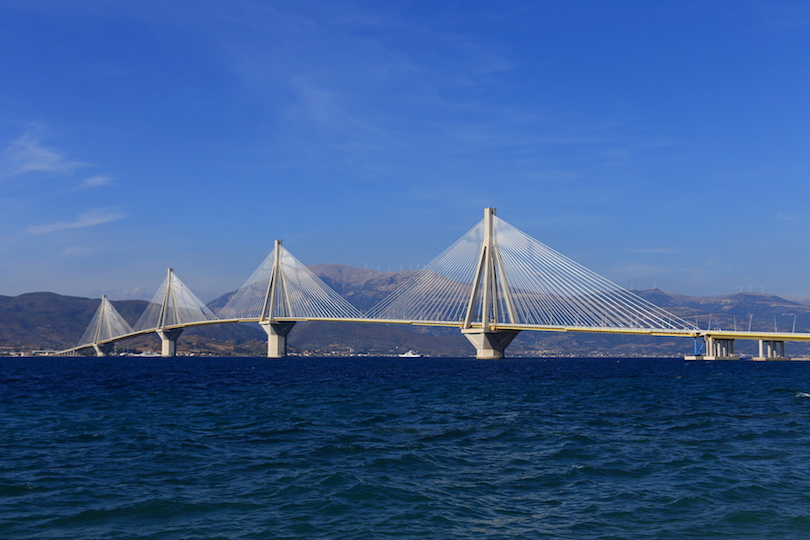 Rio - Antirio suspension bridge, Patra, Greece