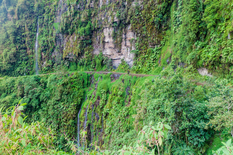 The World's Most Dangerous Road in Bolivia.