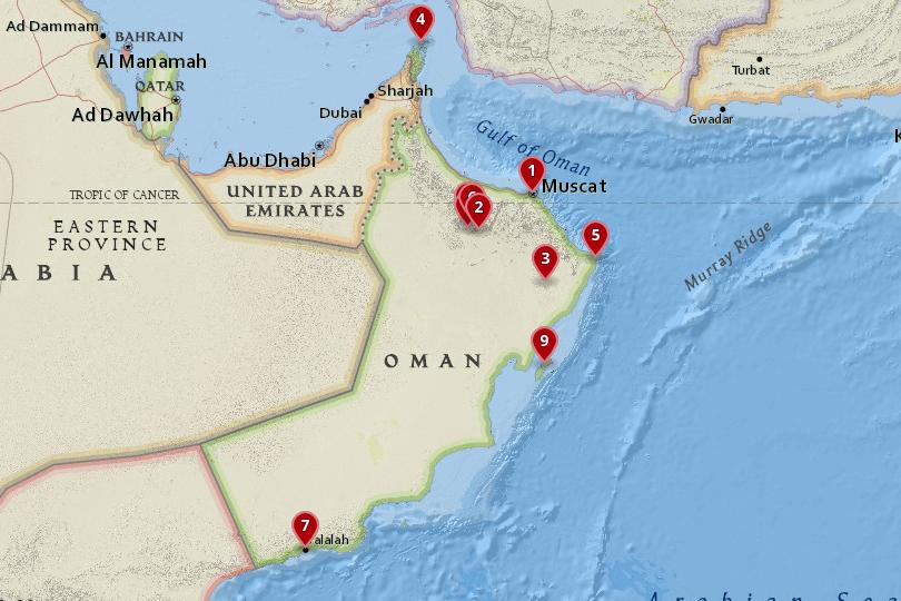 10 Best Places to Visit in Oman (with Photos & Map) - Touropia