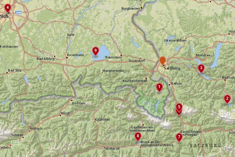 9 Best Day Trips from Salzburg (with Photos & Map) - Touropia Salzburg Map on berchtesgaden map, bad gastein map, prague map, alps map, xanthi map, saalbach hinterglemm map, bruges map, heidelberg map, austria map, hamburg map, albania map, zurich map, sarajevo map, hallstatt map, innsbruck map, wan chai map, qandahar map, munich map, strasbourg map, europe map,