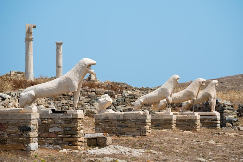 Lion Statues on Delos