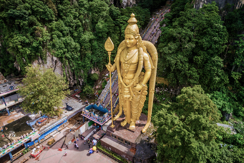 Batu Caves Aerial View