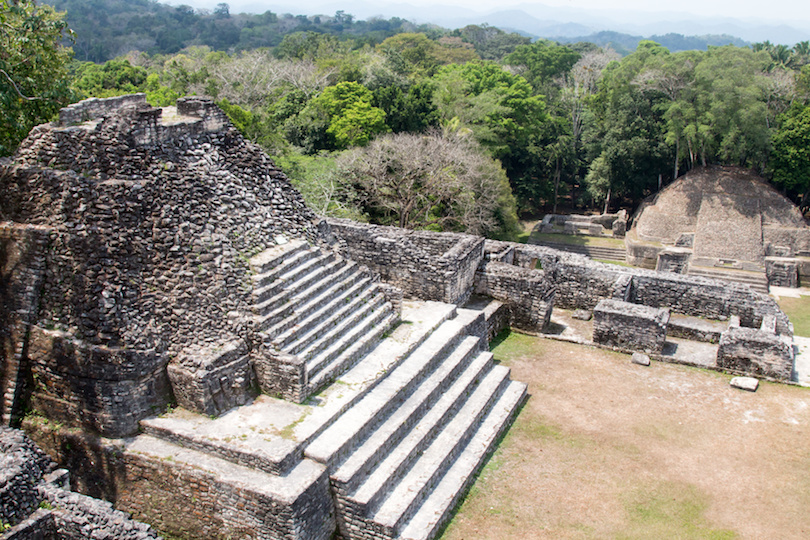 Mayan Temples at Caracol in Belize