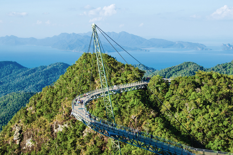 Sky bridge, symbol of Langkawi in west Malaysia