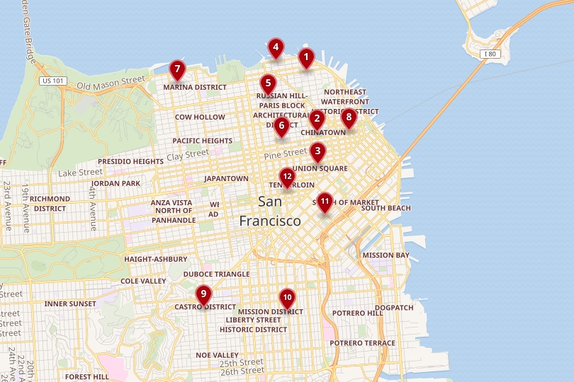 San Francisco area map