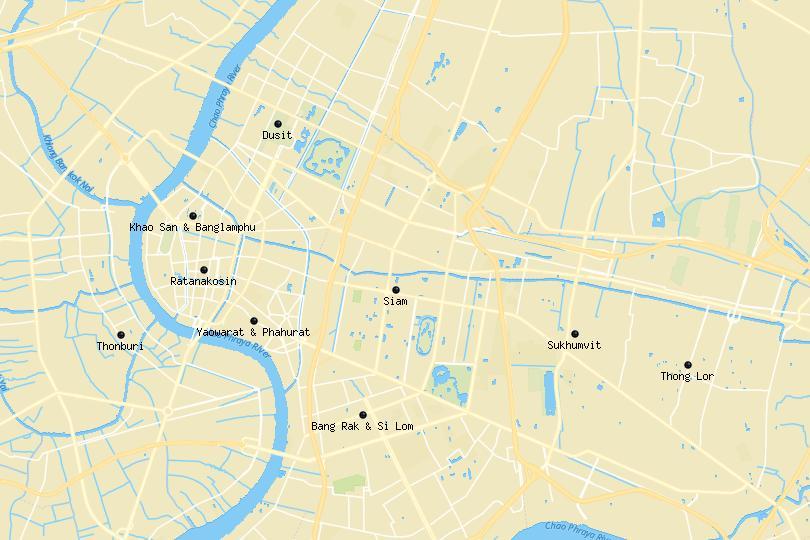 Map of Bangkok areas