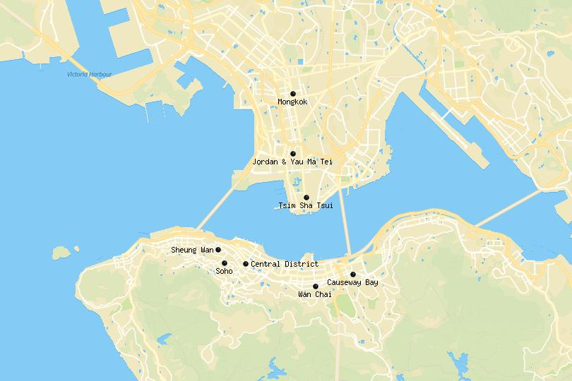 Hong Kong area map