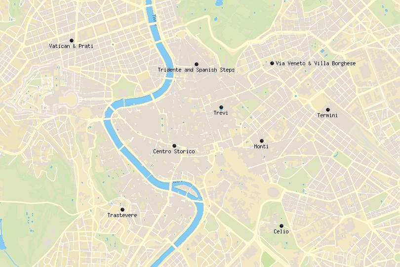 Rome Area Map