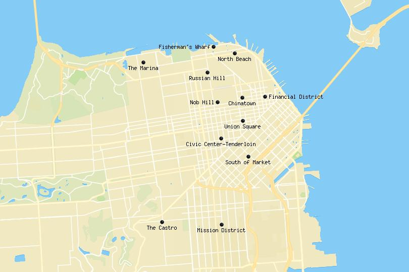 San Francisco area map