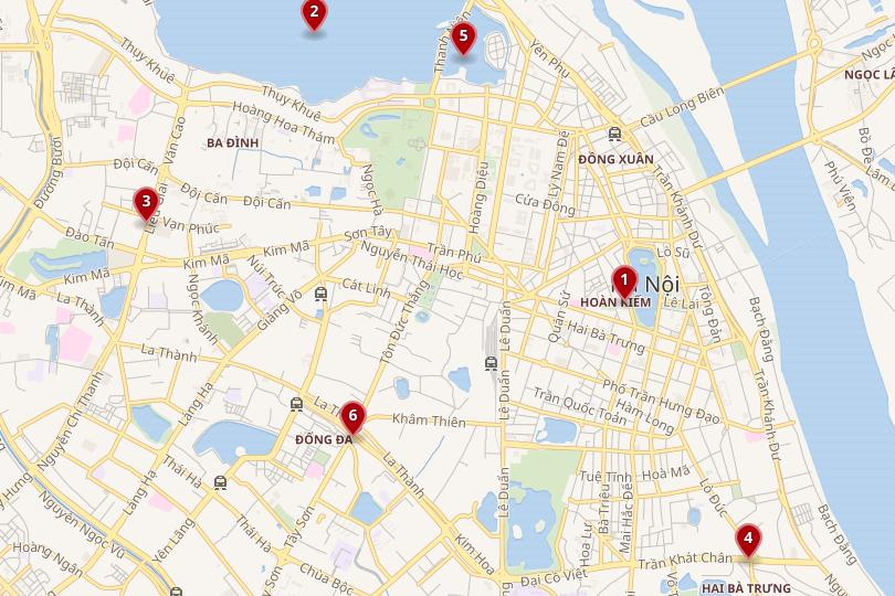 Hanoi area map