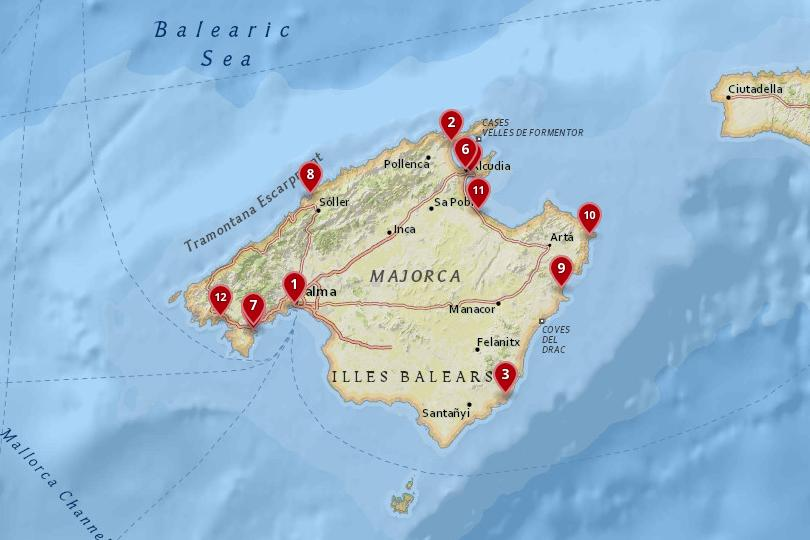 Map of Mallorca