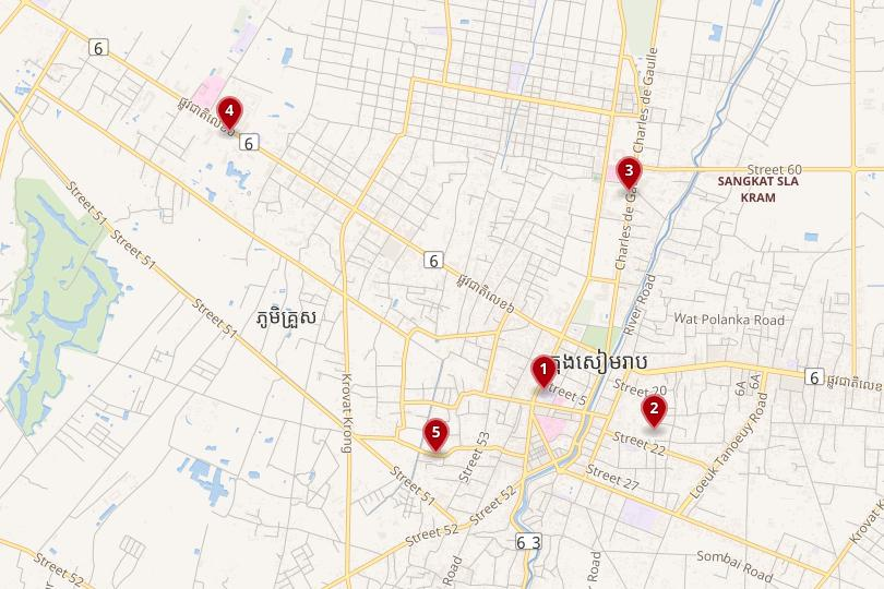 Siem Reap Map
