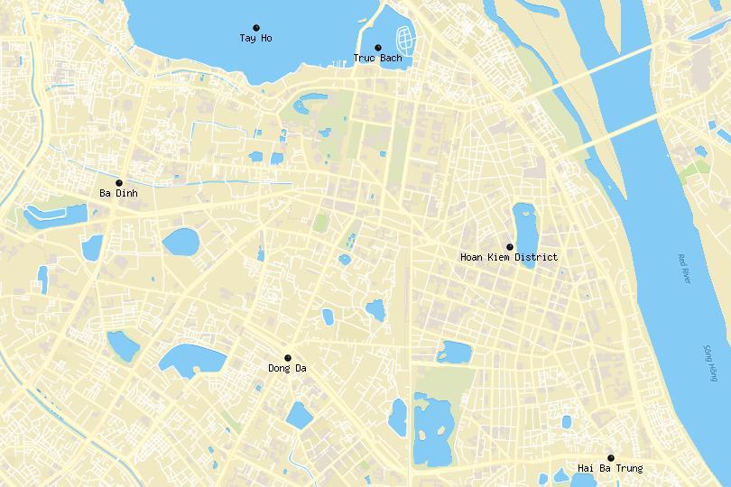 Hanoi area map