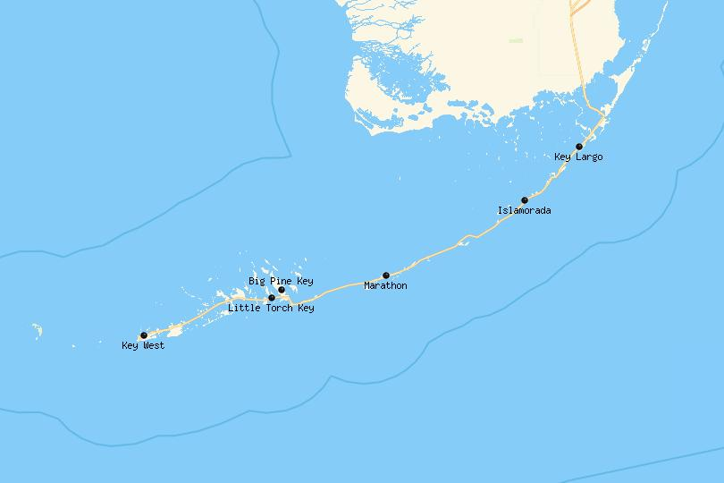 Map of the Florida Keys
