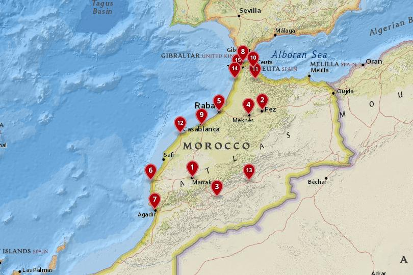 Map Of Spain Gibraltar And Morocco.15 Best Cities To Visit In Morocco With Photos Map Touropia
