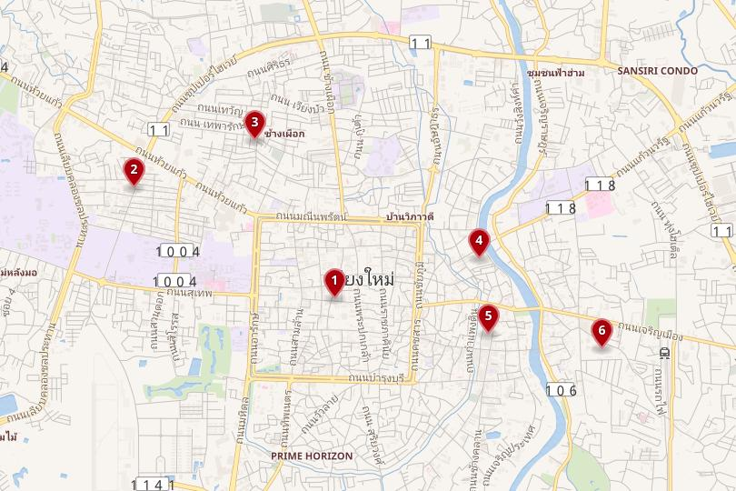 Map of Chiang Mai