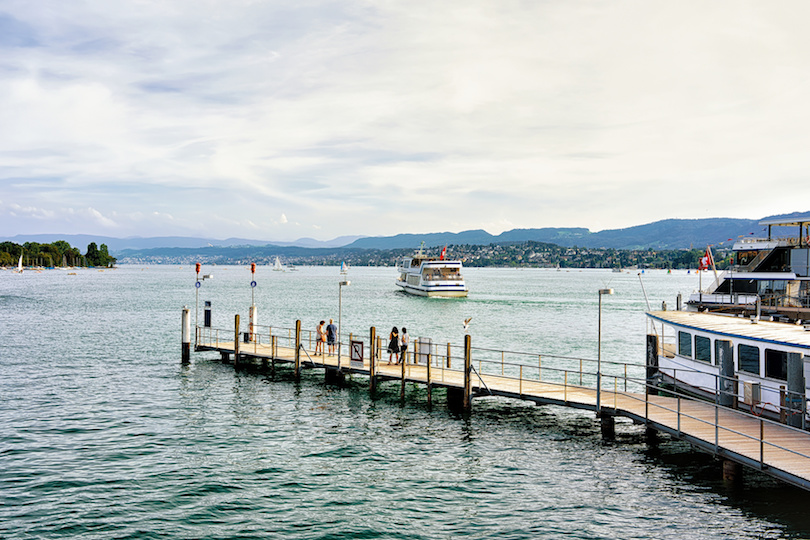 ferry in Zurich