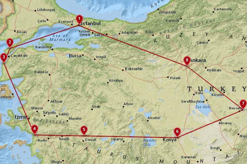 土耳其7天地图