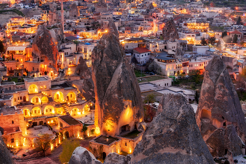 night view of Goreme