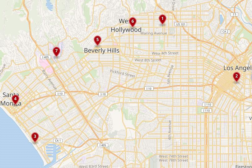 Where to Stay in Los Angeles: Best Areas & Hotels (with Photos & Map on melbourne hotel, jane hotel, disney hotel,