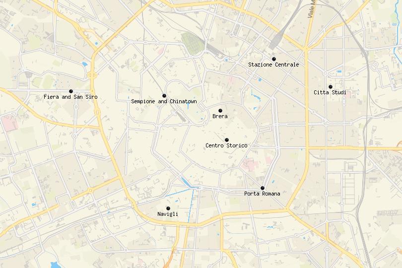 Map of Milan