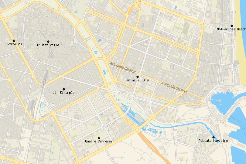 where to stay in Valencia map