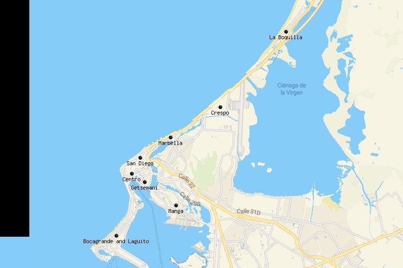 Map of Cartagena