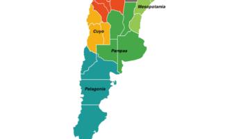 regions in argentina map