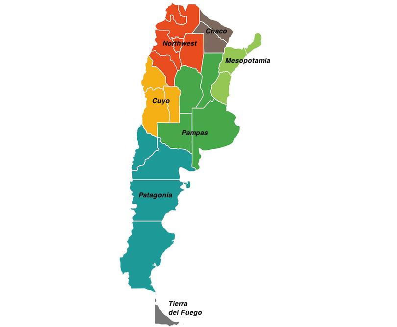 Argentina regions map