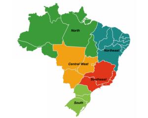 regions in Brazil map