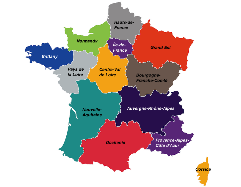 Map Of Regions Of France.18 Most Beautiful Regions Of France With Photos Map