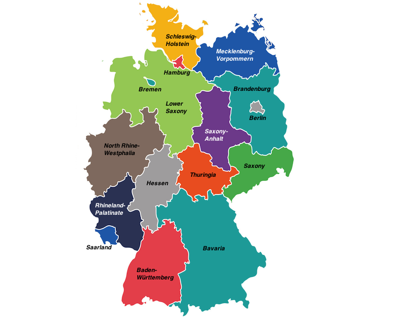 Map Of Germany And Surrounds.16 Most Beautiful Regions Of Germany With Photos Map