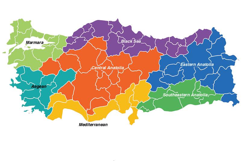 土耳其地区地图