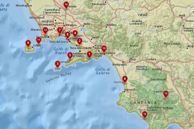 Campania, Italy Map