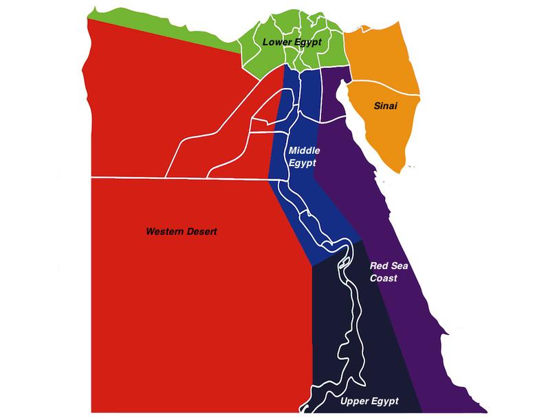 埃及地区地图