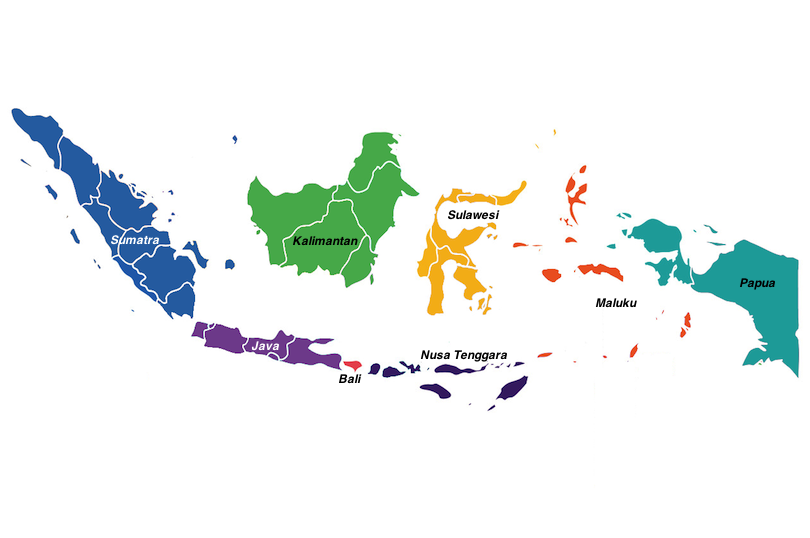 Indonesia regions map