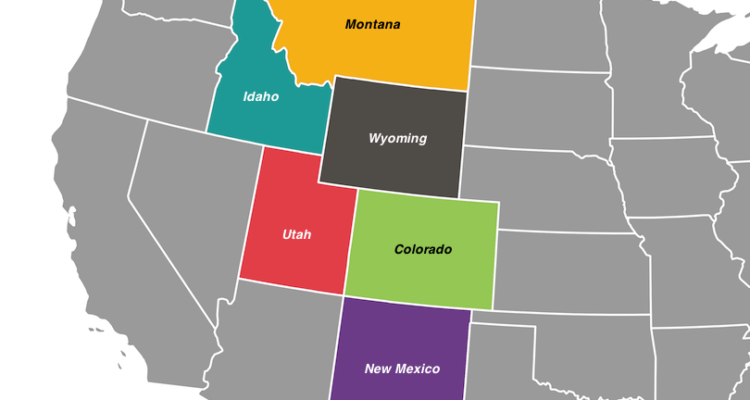 Rocky Mountains Sates Map