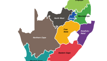 south africa regions map