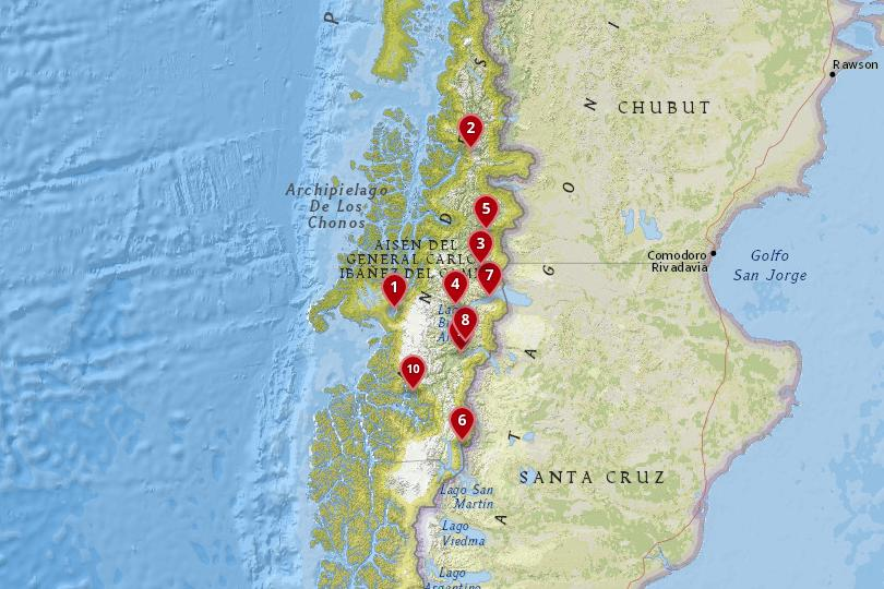 Aysen, Chile Map