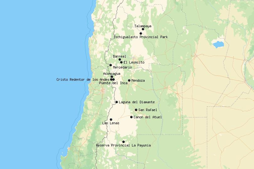 Cuyo Argentina Map