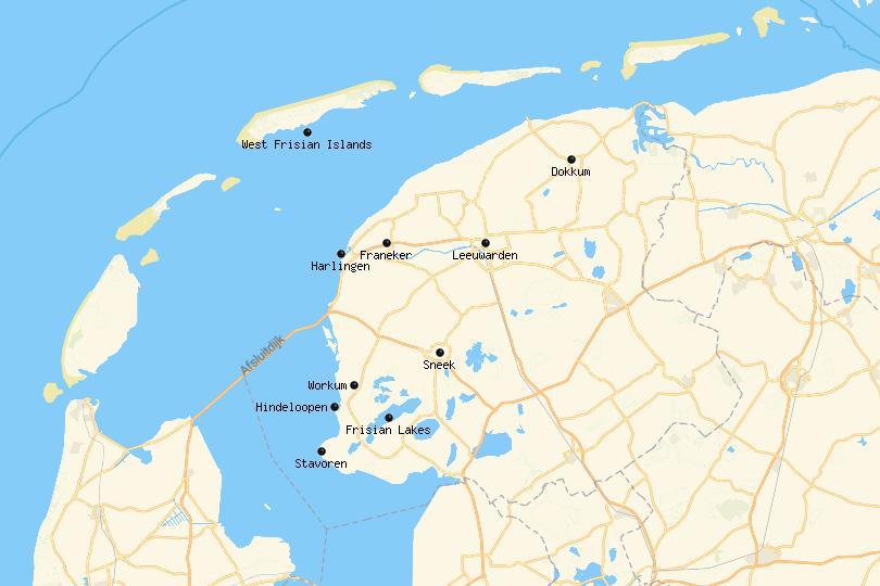 friesland netherlands map