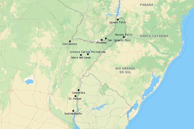 Mesopotamia Argentina map