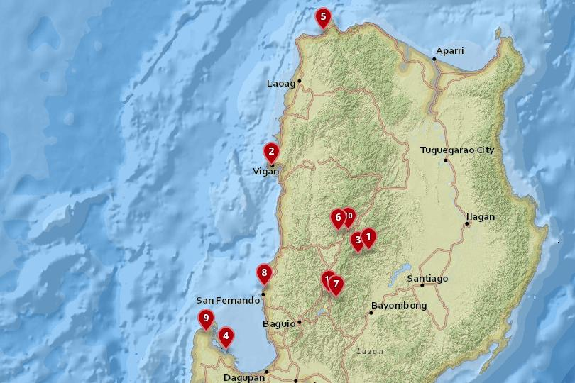 Northern Luzon, Philippines Map