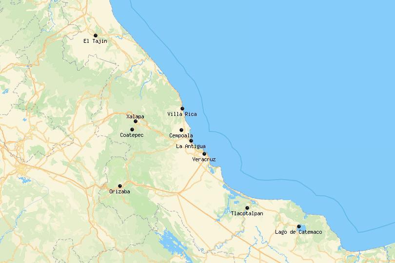 Veracruz, Mexico Map
