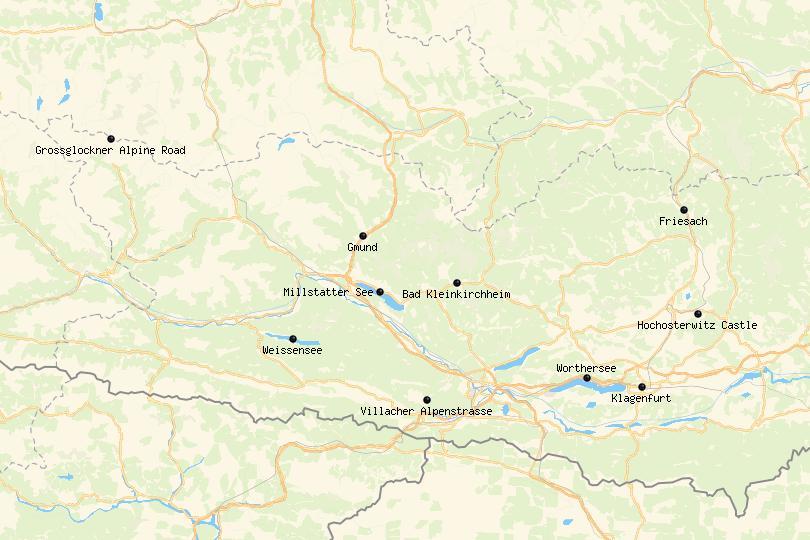 Carinthia, Austria Map